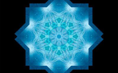 Yin Mandala: Blue